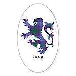 Lion - Lang Sticker (Oval)