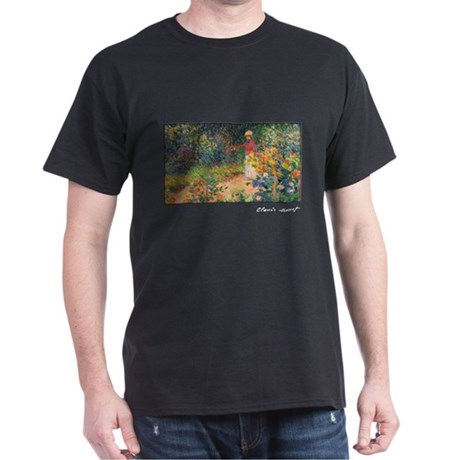 Monet Painting, In the Garden, 1895, Dark T-Shirt