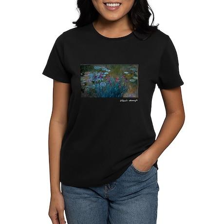 Irises and Water-Lilies Monet, Women's Dark T-Shir