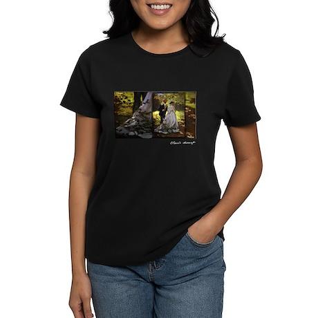 Luncheon on the Grass , Monet, Women's Dark T-Shir