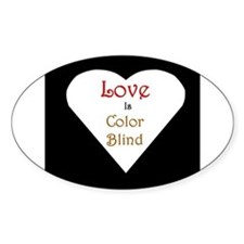 Interracial Love & Relationship Oval Bumper Stickers