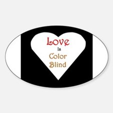 Interracial Love & Relationship Oval Decal