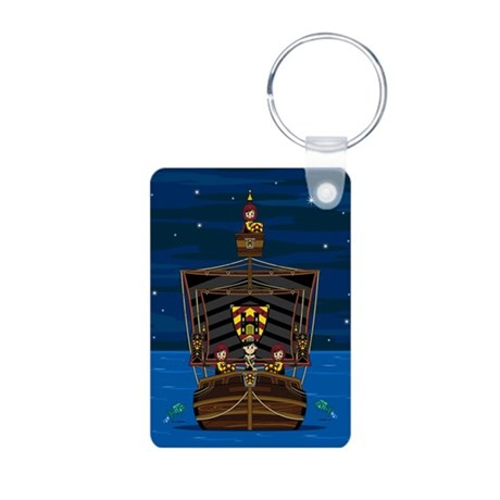Knights & Princess on Ship Photo Keychain