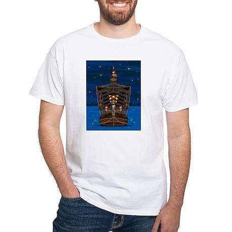 Knights & Princess on Ship White T-Shirt