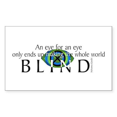 An Eye for an Eye Rectangle Sticker