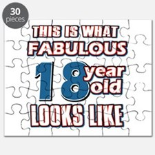 Cool 18 years old birthday designs Puzzle