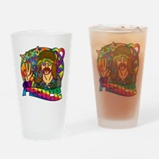 Psychedelic Peace Retro 60's Drinking Glass