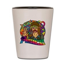 Psychedelic Peace Retro 60's Shot Glass