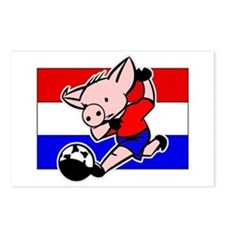 Paraguay Soccer Pigs Postcards (Package of 8)