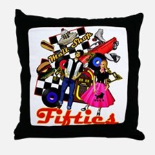 Fifties Memories Retro Throw Pillow
