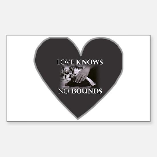 Interracial Love & Relationship Sticker (Rectangul