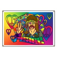 Psychedelic Peace Retro 60's Banner