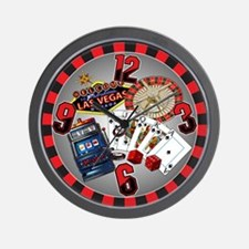 Hot Vegas Nite Wall Clock