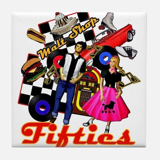 Fifties Memories Retro Tile Coaster