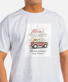 MM Mom's Milk Express Ash Grey T-Shirt