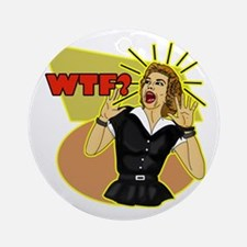 WTF? 50's Retro humor Ornament (Round)
