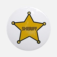 Sheriff Cowboy Ornament (Round)