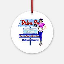 At the Drive in Retro 50's Memory Ornament (Round)