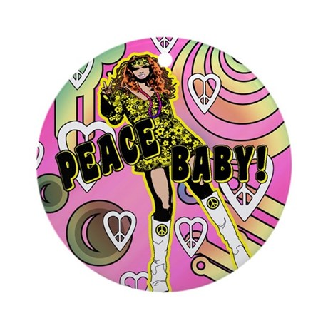 PEACE BABY! Ornament (Round)