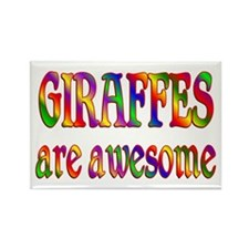Awesome GIRAFFES Rectangle Magnet (10 pack)