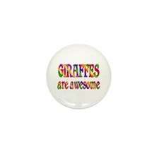 Awesome GIRAFFES Mini Button (10 pack)