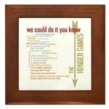 we could do it you know Framed Tile