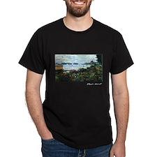 Riverbank at Argenteuil, Monet, T-Shirt