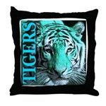 Tigers Exotic Jade Moonlight Throw Pillow
