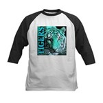 Tigers Exotic Jade Moonlight Kids Baseball Jersey