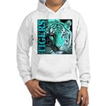 Tigers Exotic Jade Moonlight Hooded Sweatshirt