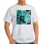 Tigers Exotic Jade Moonlight Ash Grey T-Shirt