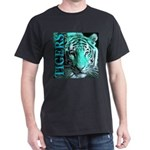 Tigers Exotic Jade Moonlight Black T-Shirt