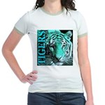 Tigers Exotic Jade Moonlight Jr. Ringer T-Shirt