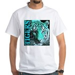 Tigers Exotic Jade Moonlight White T-Shirt