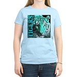 Tigers Exotic Jade Moonlight Women's Pink T-Shirt