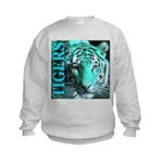 Tigers Exotic Jade Moonlight Kids Sweatshirt