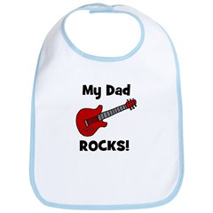 My Dad Rocks! (guitar) Bib