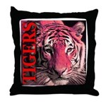 Tigers Passionate Red Throw Pillow