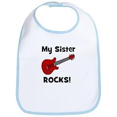 My Sister Rocks! (guitar) Bib
