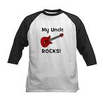 My Uncle Rocks! (guitar) Kids Baseball Jersey