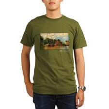 Monet Painting, Boats at Zaandam, T-Shirt
