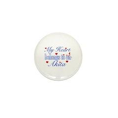 Akita Dog Designs Mini Button (10 pack)