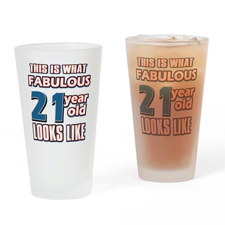 Cool 21 year old birthday designs Drinking Glass