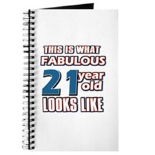 Cool 21 year old birthday designs Journal