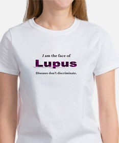 I am the face of Lupus - PURPLE TEXT T-Shirt
