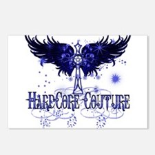 Celtic Cross with Wings Blue Postcards (Package of
