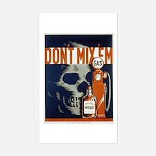 Don't Mix 'Em WPA Poster Sticker (Rectangle)