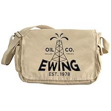 Dallas Retro Ewing Oil Messenger Bag