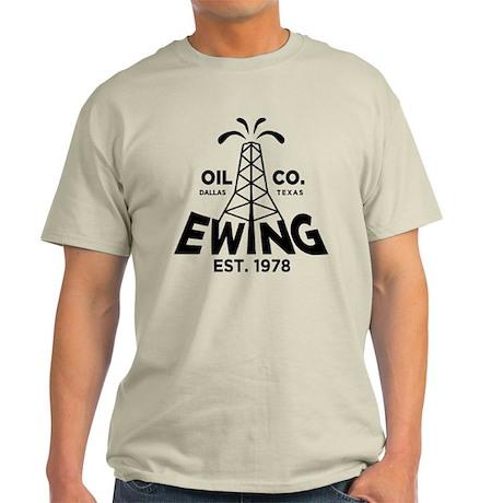 Dallas Retro Ewing Oil Light T-Shirt
