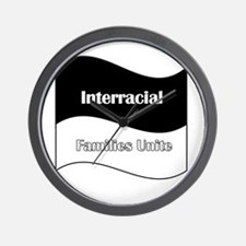 Interracial Family Wall Clock